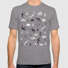 swallow Mens Fitted Tee LARGE Tri-Grey