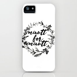minutt for minutt floreal iPhone Case