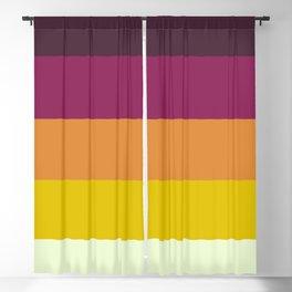 Classic 70s Retro Stripes Blackout Curtain