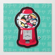 Gumball Sushi   ガチャ ガチャ 鮨 Canvas Print