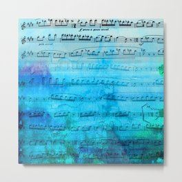 Blue mood music Metal Print