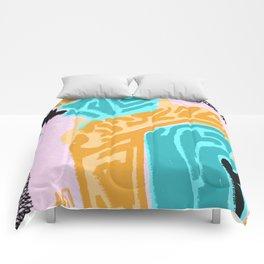 Yellow findings Comforters