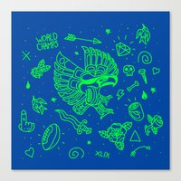 seahawks Canvas Prints featuring Seahawks Super Bowl Champion by Maioriz Home