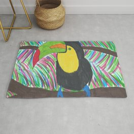 Colorful Tropical Toucan Rug