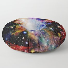GaLaXY : Orion Nebula Dark & Colorful Floor Pillow