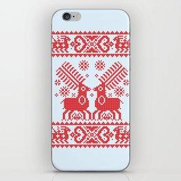 Folk Deers iPhone Skin