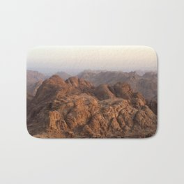 The view from Moses mountain. Sinai. Bath Mat