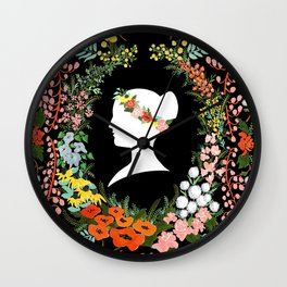 Language of Flowers  Wall Clock