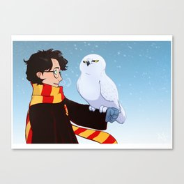 Harry and Hedwig Canvas Print