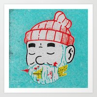 the life aquatic Art Prints featuring Aquatic Life by Derek Eads