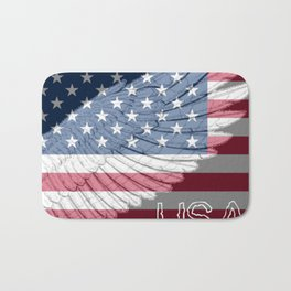 """ USA Wing And Flag "" Bath Mat"