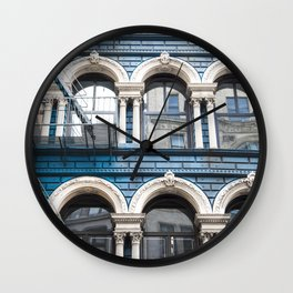 NY Blue Wall Clock