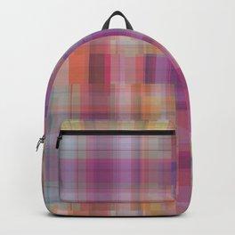 P020 Gentle Rainbow Plaid Backpack