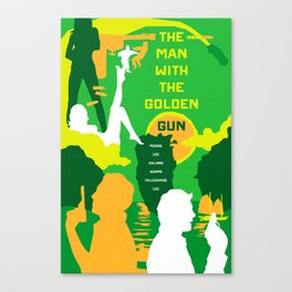 James Bond Golden Era Series :: The Man with the Golden Gun Canvas Print