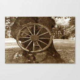 Historical Wagon Wheel Canvas Print