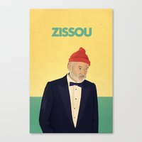 zissou Canvas Prints featuring Zissou by Perry Misloski