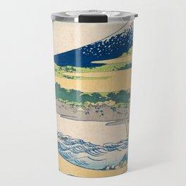 Katsushika Hokusai - Tago Bay Blockprint Travel Mug
