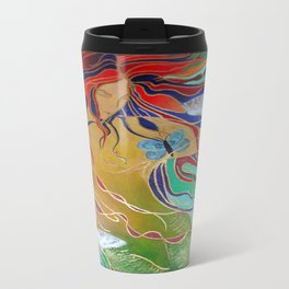 Mermaid and Butterflies Travel Mug