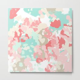 Florence - abstract trendy colors gender neutral seaside coral tropical minimal mermaids Metal Print