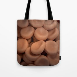 Conceptual image of red blood cells. Tote Bag