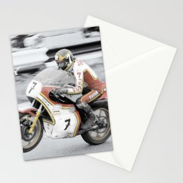 Barry Sheene 2, the hand tinted version Stationery Cards