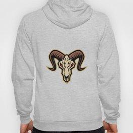 Bighorn Sheep Skull Mascot Hoody