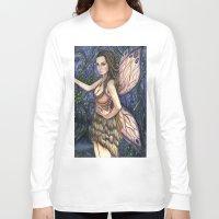 fireflies Long Sleeve T-shirts featuring Fireflies Fairy Art by Laurie Leigh Art