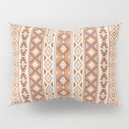 Aztec Stylized Pattern Blue Cream Terracottas Pillow Sham