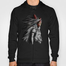 Miyazaki's Mononoke Hime Digital Painting the Wolf Princess Warrior Color Variation Hoody