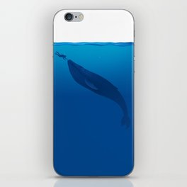 The Whale and a Human iPhone Skin