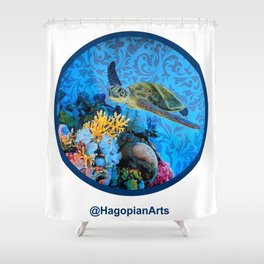 Eco Mural Project 1: Kauai Coral Reef Life Shower Curtain