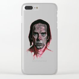 Nick Cave by Nicky Anthony Clear iPhone Case