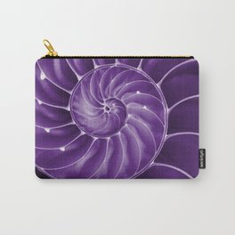 Ultra Violet Chambered Nautilus 2 Carry-All Pouch