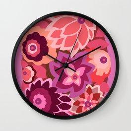 CAMBRIA, ART DECO FLORALS: LIPSTICK Wall Clock