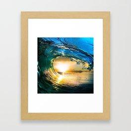 Glowing Wave Framed Art Print