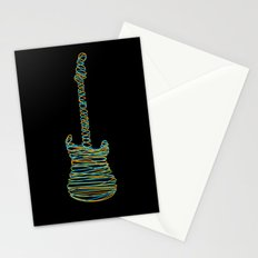 Guitar On Stationery Cards