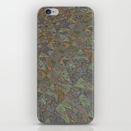 Patchwork hint of rGreen iPhone Skin
