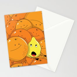 Lemon squeezed by Oranges Stationery Cards