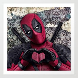 Dead pool - Sweet superhero Art Print