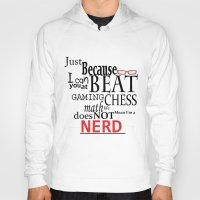 nerd Hoodies featuring Nerd by Jessica Jimerson