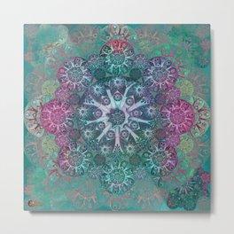 """Mint & Rose Mandala (pattern)"" Metal Print"