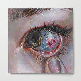 Beauty in The Eye Metal Print