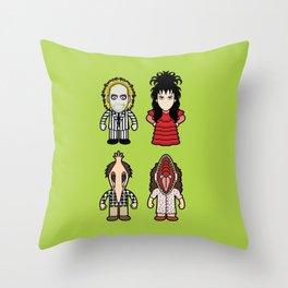 Beetlegeuse Lovers Throw Pillow