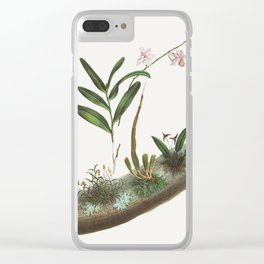 Vintage Orchid Illustration Clear iPhone Case