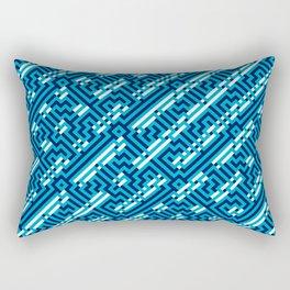 Artis 1.0, No.26 in Warm Blue Rectangular Pillow