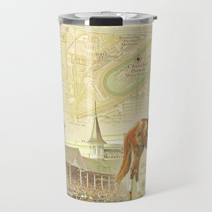 Artistic Kentucky Derby [vintage inspired] Map print Travel Mug by  kokuadesigncompany