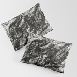 Breaking Loose - Charcoal on Newspaper Figure Drawing Pillow Sham