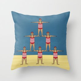 Swimsuit Team 01 Throw Pillow