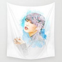 Blossom Girl Sketch Wall Tapestry