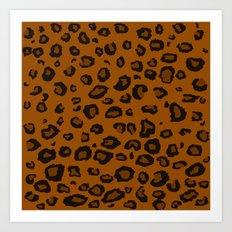 Dark Leopard Art Print
